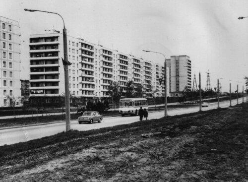 Строительство Шевченковского района в 70-е годы (1975 год)
