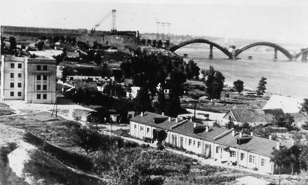 Строительство моста Преображенского, 50-е годы