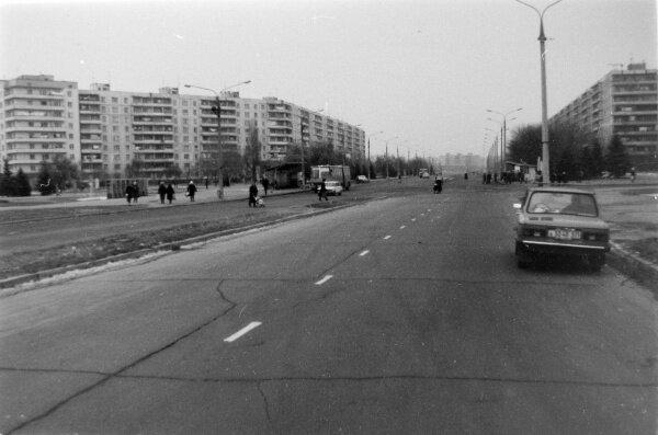 Улица Лахтинская в 1984 году