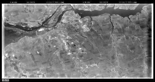 Запорожье с американского спутника в 1965 году