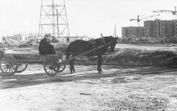 Окончание строительства телевышки 05.12.1959 год.