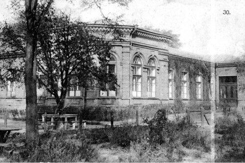 Город Александровск. Еврейская больница. Сейчас здание 1-й городской больницы.
