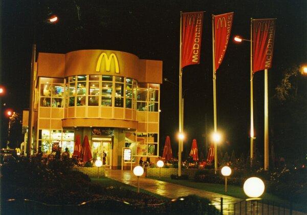 McDonalds ночью