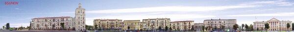 Панорама зданий по проспекту Ленина