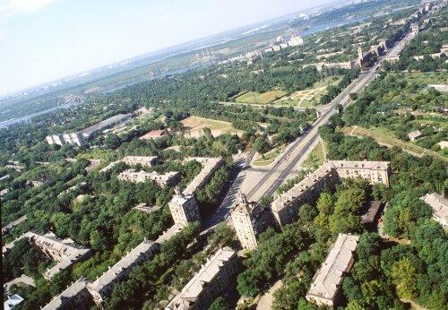Площадь имени Александра Поляка (бывшая 12 апреля) с высоты птичьего полета