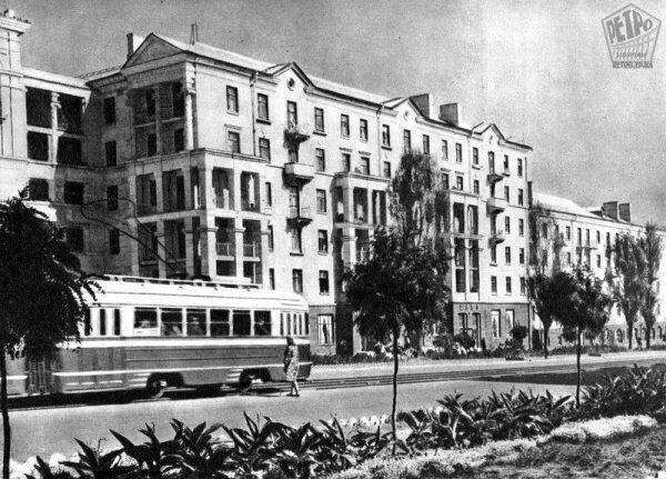 Проспект Ленина в 50-е годы, ретро фото