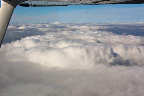 Красивые облака над Запорожьем