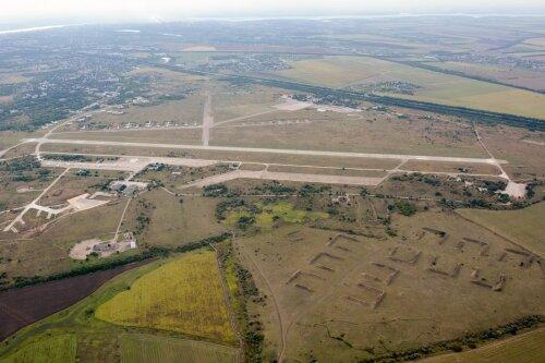 Аэропорт Запорожья с высоты