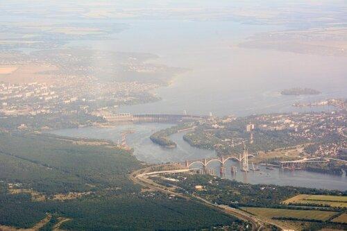 Запорожские мосты и плотина ДнепроГЭС