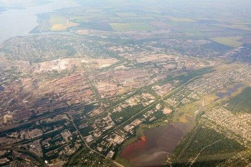 Заводской и Шевченковский районы с высоты полета
