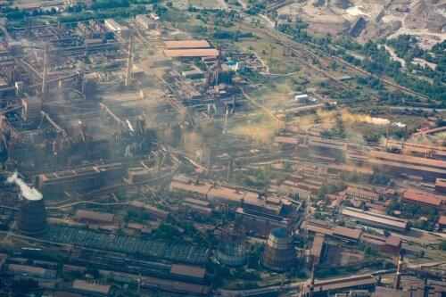 Запорожский металлургические заводы с высоты