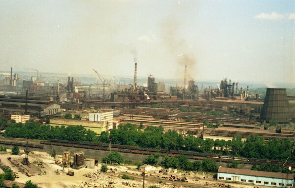 Запорожские заводы с высоты птичьего полета