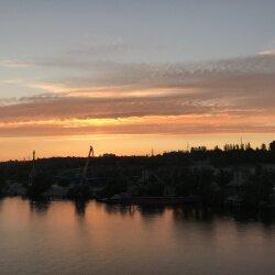 Закат над вырвой