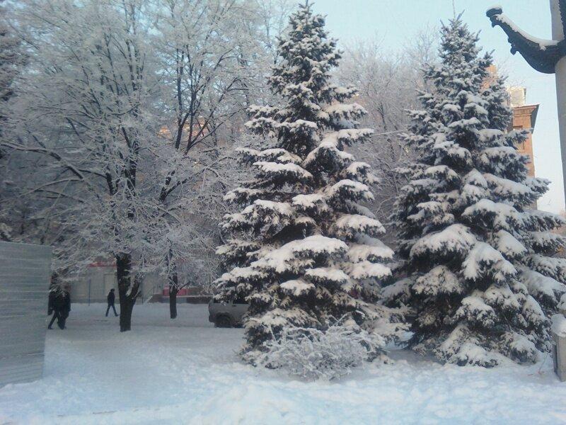Зимняя сказка в городе Запорожье