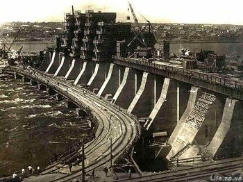 Восстановление разрушенного ДнепроГЭСа