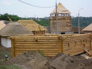 Уникальные фотографии стройки Запорожской Сечи - 08.07.2006 года
