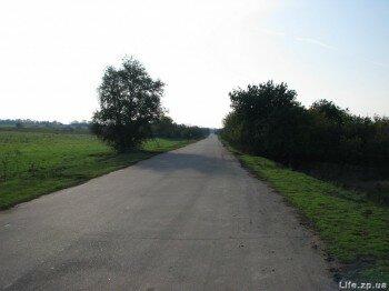Въезд в село Долинское
