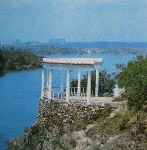 Вид на Днепр с острова Хортицы