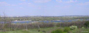 Вид на город из Соловьиной рощи. Панорама.