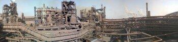 Завод «Запорожсталь». Панорама. Общий вид.